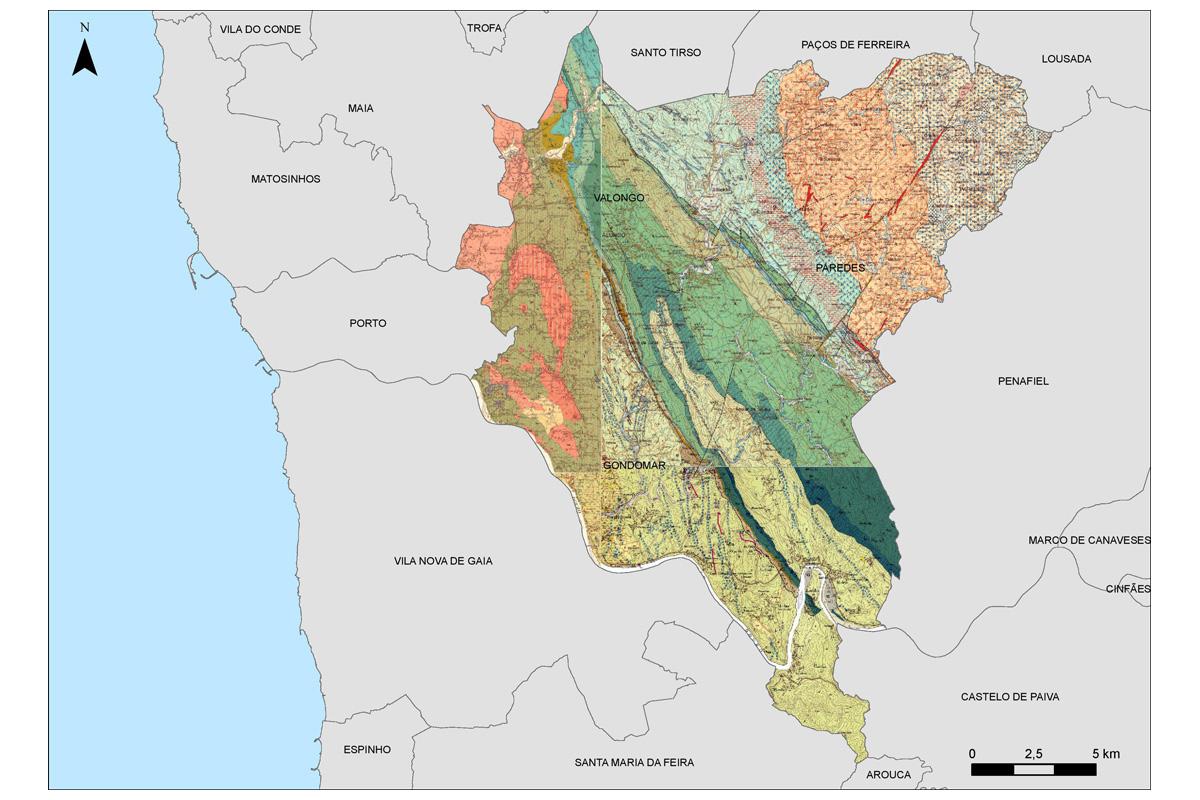 Excerto da Carta Geológica